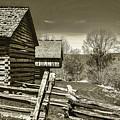 Smoky Mt Homestead - B W by Mark Fuge