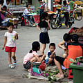 Snack Time In Shilong by Endre Balogh