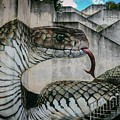 Snake Or Cobra Street Art  by Alexandre Rotenberg