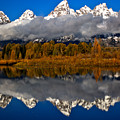 Snake River Fall Reflections by Adam Jewell