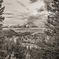 Snake River Overlook Grand Teton Monochromatic by Scott McGuire