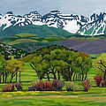 Sneffels Range Spring Acrylic by Dan Miller