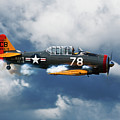 Snj-5  Texan T-6  Smoke On by Bruce Beck