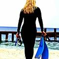 Snorkeler Girl by Carrie OBrien Sibley