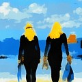 Snorkeler Twins 1 by Carrie OBrien Sibley
