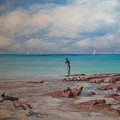 Snorkling In Aruba by Perrys Fine Art
