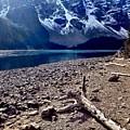 Snow Above Moraine Lake by Kim Grosz