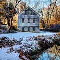 Snow Along Creek by Bob Cuthbert