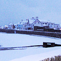 Snow At Cobo Beach by Quintin Rayer