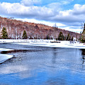 Snow At The River by David Patterson