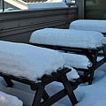 Snow Benches by John Hughes