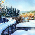 Snow Blanket Over Shoreline Trials by Dumitru Barliga