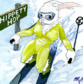 Snow Bunny Skiing by Mark Ryberg