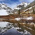 Snow-capped Refections by Leda Robertson