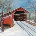 Snow Covered Bridge by Lora Duguay