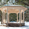 Snow Covered Gazebo by Dale Powell