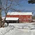Snow Covered Masachussetts Barn by John Black