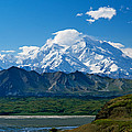 Snow-covered Mount Mckinley, Blue Sky by Panoramic Images