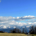 Snow Covered Mountains by Judy Baird