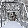 Snow Covered Pony Bridge by DJ Florek