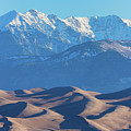 Snow Covered Rocky Mountain Peaks With Sand Dunes by James BO Insogna