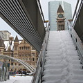 Snow Covered Stairs by Alfred Ng