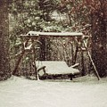 Snow Covered Swing by John Myers