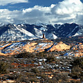 Snow Covered Utah Mountain Range by Paul Cannon