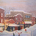 Snow For The Holidays Painting by Ken Figurski