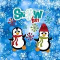 Snow Fun Penguins by Justin Clanton