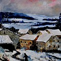 Snow In Ardennes 79 by Pol Ledent