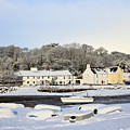 Snow In Red Wharf Bay Wales by Pearl Bucknall