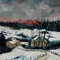 Snow In Sechery Redu by Pol Ledent