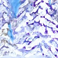 Snow Laden Trees by Wanda Pepin