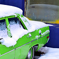 Snow On Car by Robert Skuja