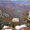 Snow On The Grand Canyon by Larry Ricker