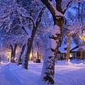 Snow On Warren St. by Dutch Bieber