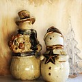 Snow People In Love by Marsha Heiken