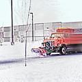 Snow Plow In Business Park 1 by Steve Ohlsen
