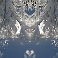 Snow Trees Mirror by Cindy Greenstein