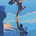 Snowboard High Five by Sassan Filsoof