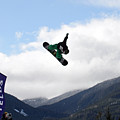 Snowboarder At The Telus Snowboard Festival Whistler 2010 by Pierre Leclerc Photography