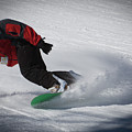 Snowboarder On Mccauley by David Patterson