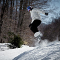 Snowboarding Mccauley Mountain by David Patterson