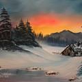 Snowbound Sunrise by Larry Hamilton