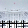 Snowbound White House by SR Green
