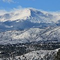 Snowcovered Pikes Peak by Kathy Nikolaus