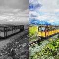 Snowdon Train by Ian Mitchell