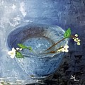 Snowdrops Bowl by Denisa Olbojan