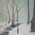 Snowfall In The Park by Ken Figurski